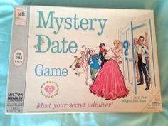 Vintage MYSTERY DATE board game Milton Bradley Original 1965 COMPLETE & CLEAN!