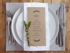 Menu de mariage imprimable Custom mariage par WhiteWillowPaper