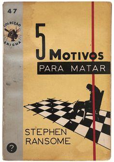 5 Motivos para Matar - Colecção Enigma, designed by Andrade de Albuquerque