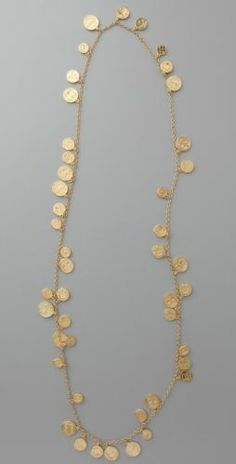 Authentic House of Harlow 1960 Long Coin Necklace