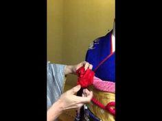1分で出来る帯揚げでお花を作る方法 振袖の着付け Kimono 茨城 個人レッスン - YouTube