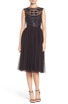 Needle & Thread Embellished Tulle Midi Dress available at #Nordstrom