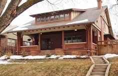 Salt Lake City Restored Craftsman, if the porch was glassed in this house would get a lot of passive solar gain.