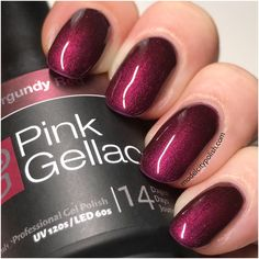 Burgundy Red from Disco Glam Collection by Pink Gellac - Model City Polish