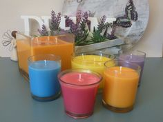 Custom Orders Just wanted to share this batch of delicious colours from today.  They represent the warm spring feeling like summer weather of Qld.  Just gorgeous, you gotta love a world where there is no beige allowed.  Orders or enquiries to my Facebook business page www.facebook.com/dreamcandles4740