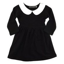 #Wednesdayaddams childrens dress from #Metallimonsters #babygoth