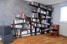 This mind (and possibly even gravity) bending bookshelf might be every perfectionist´s nightmare but it definitely gives your room the unique feel of the unconventional and bizarre.
