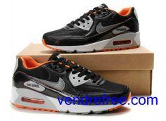 info for a1b4b 68526 Vendre Pas Cher Homme Chaussures Nike Air Max 90 (couleur blanc,noir,argent,orange)  en ligne en France.