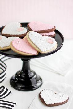 Jeweled Heart Sugar Cookies | Sprinkle Bakes #valentinesday #sugar #cookies #decorated #recipe