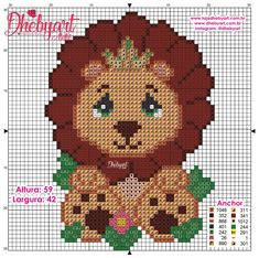 Luigi, Teddy Bear, Toys, Fictional Characters, Art, Cross Stitch Embroidery, Animals, Toddler Girls, Royals
