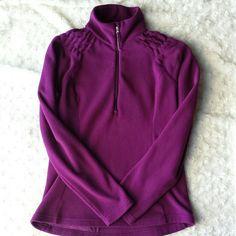 Lucy half zip pullover fleece Beautiful deep magenta color. Rear pocket. Great condition. Lucy Tops