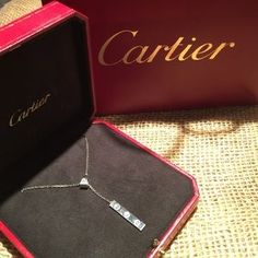 """I just added this to my closet on Poshmark: Cartier 18kt white diamond necklace. Price: $3,950 Size: Approx 18"""""""