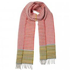 WALLACE & SEWELL HONEYCOMB SCARF- Distinguished by their striking woven fabrics, utilising colour and structure in innovative ways, Wallace & Sewell designs include a wide range of materials from silk to chenille and lambswool.