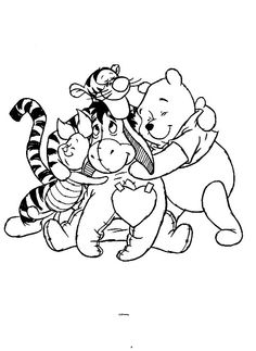 Winnie The Pooh Bear New Baby Pinterest Coloring Pages