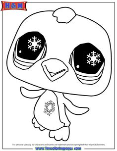 littlest pet shop penguin coloring page free printable coloring