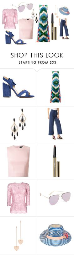 """fashion start"" by kristen-stewart-2989 ❤ liked on Polyvore featuring L'Autre Chose, Afroditi Hera, Kate Spade, Cédric Charlier, Simone Rocha, Trish McEvoy, Dolce&Gabbana, Le Specs, Cloverpost and YOSUZI"