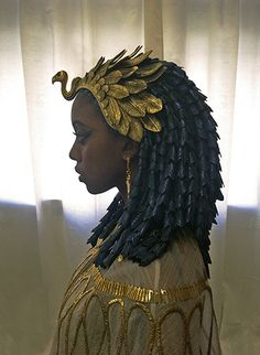 An Egyptian headpiece I built for the cancelled TV show, Hieroglyph.