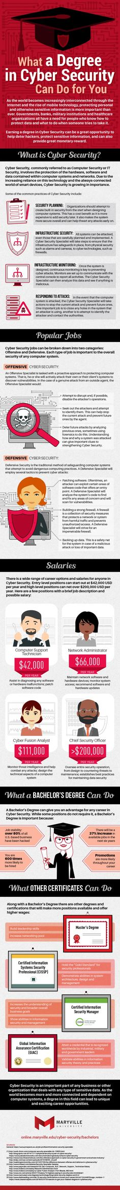 Infographic: What a Degree in Cyber Security can do for you #Infographics
