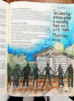 Matthew 18:20 The Original Bible Art Journaling Challenges Series Week 21 http://www.rebekahrjones.com/bible-art-journaling-challenge/the-original-bible-art-journaling-challenge/