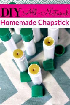 Do you make your own DIY beauty products? If so, make sure to add this DIY Chapstick to your list! It's super easy to make and you can customize the flavor anyway you want!