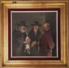 Tablou, Scene gen, Ulei, Altul - Radu Daranga - 3 negustori evrei - Okazii (182128995)