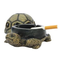 Cigar Cigarette Ashtray with Lid Ash holder Fashion Creative Unique Resin Animal Room Home Office Decor Birthday Gift (turtle) *** Check this awesome product by going to the link at the image. (This is an affiliate link) #DecorativeAccessories