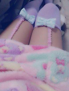 #ThighHighs #Fuzzy #Garter - Would look cute on an amigurumi doll.
