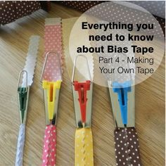 Part 4 of our guide to bias tape - this one covers making your own tape, with or…