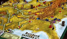 Railways of the World is one of Quirky Momma's Top 10 Board Games for families