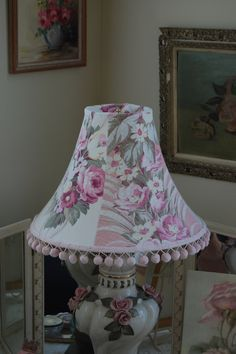 barkcloth lampshade; we have these at SISTERS ANTIQUES (custom made)
