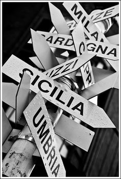 Street Signs of Italian Places