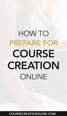 How to Prepare for Course Creation Online // Course Creation Guide -- #passiveincome #workingonline