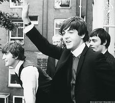 The Beatles with Jimmy Nicol Holland, 1964 gif