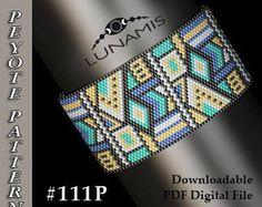 Peyote bracelet pattern, odd count, peyote pattern, stitch pattern, pdf file, pdf pattern, #111P