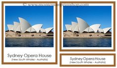 Free Australia/Oceania Landmarks: 18 photographs of the Landmarks of Australia/Oceania/Australasia in 3-Part Cards.