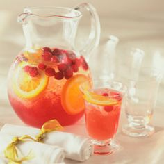 White Cranberry Citrus Punch  This drink combines the flavors of your favorite cranberry juice with refreshing sparkling wine.     Ingredients: Sparkling wine, Riesling, light white cranberry juice, an orange, fresh cranberries, orange peel