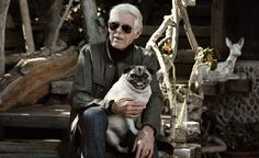 HARRY GESNER with the wonderful Pug in residence Zepher