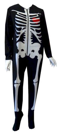 Skeleton Bones Onesie Footie Pajama for women