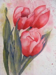 Brand new Springtime painting!  http://www.etsy.com/listing/96775457/red-tulips-spring-again-original