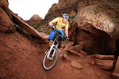 Mountain Biking in Moab - List of Moab trails, length, and difficulty Moab Mountain Biking, Cannondale Mountain Bikes, Mountain Biking Quotes, Mountain Bike Helmets, Moab Trails, Cross Country Bike, Utah Vacation, Bicycles, Viajes