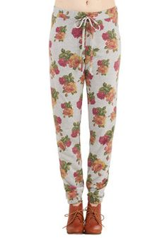 Afloat in Floral Pants