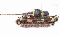«Tiger» Pz.Kpfw. VI Ausf. B №-008 Stab/s.SS-Pz.Abt.501(Ustuf.Eduart Kalinowsky),Wacht am Rin, Tongorf,1944.