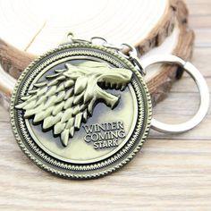 Game of Thrones Stark Family Badge Keychain