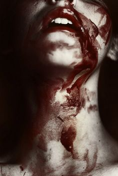 Blood's not a demure trickle like it is in movies