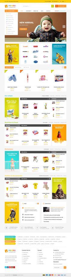 MT Quartz Multipurpose Kids Magento Theme #children #store #eCommerce #template #website