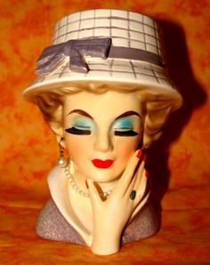 1000 Images About Lady Head Vases On Pinterest Vintage