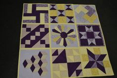 mixed block quilt by one of our ladies!