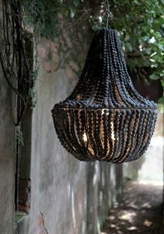 great texture on this black chandelier. great texture on this black chandelier. Diy Luminaire, Diy Lampe, Beaded Chandelier, Black Chandelier, Chandeliers, Shell Chandelier, Chandelier Ideas, Outdoor Chandelier, Chandelier Lighting