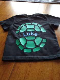 "Heat transfer vinyl "" ninja turtle shell"" back of shirt"