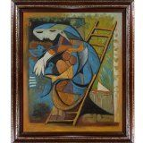overstockArt Picasso Farmers Wife on a Stepladder Painting with Heritage Wood Frame, Cherry Finish/Gold Trim - #art #artwork #popularartwork #paintings #homedecor -   20-inch by 24-inch oil painting on canvas hand painted oil reproduction of a famous    ...BTW,Please Check this out:  http://artcaffeine.imobileappsys.com